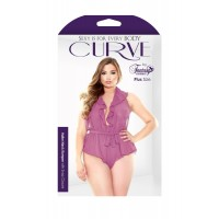 *Curve Halter Neck Ruffled Romper 3X/4X with snap closure